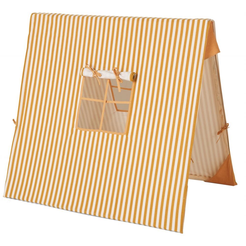 Mustard Thin Striped Tent