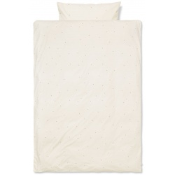 Dot Embroidery Bedding Adult Off-White