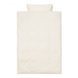 Dot Embroidery Bedding Junior Off-White