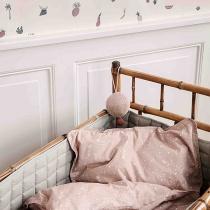 Протектор за детско легло Hush Синьо-зелено