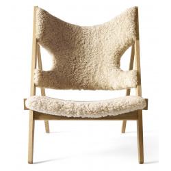Knitting Lounge Chair, Sheepskin