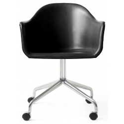 Harbour Dining Chair, Star Base, upholstered w. casters