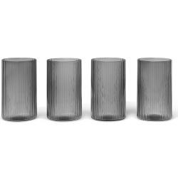 Комплект чаши Ripple Verrines 4 броя Опушено сиво