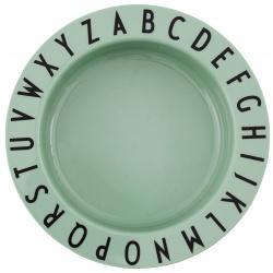 """Дълбока детска чиния """"Eat & Learn"""" от Тритан Зелена"""