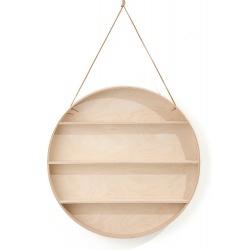 Кръгла дървена лавица
