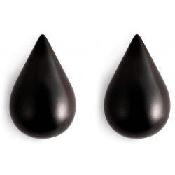 Dropit дървени закачалки големи в черно - 2 броя