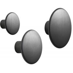 Метална закачалка Dots Черна