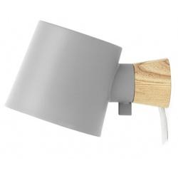 Rise лампа за стена Сива