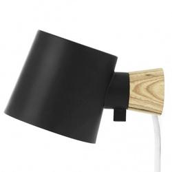 Rise лампа за стена Черна