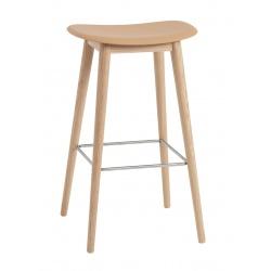Бар стол Fiber Основа Дърво